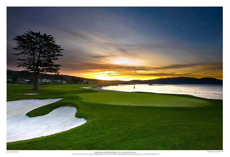 Pebble Beach Golf Links 18th Hole At Sunrise