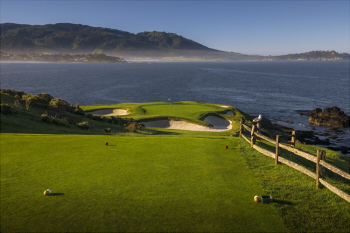Pebble Beach Golf Links Pebble Beach Calif View Of The